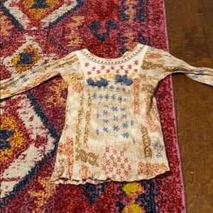 Mimi & maggie boho toddler girl top blouse 2T